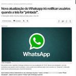 Notícia falsa sobre print de tela do WhatsApp se espalha; entenda
