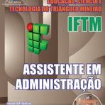 Concursos Públicos - Apostila IFTM Triângulo Mineiro 2015 Assistente de Alunos