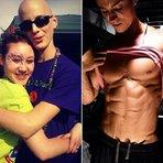 Rapaz sobrevive a câncer e se torna fisiculturista 4 anos depois