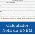 Calculador automático nota ENEM