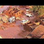 Vídeo do rompimento da barragem que destruiu o distrito de Mariana por uma enxurrada de lama