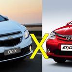 Comparativo Chevrolet Onix ou Etios qual é melhor