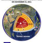 Poderosa Onda de Energia foi emitida pelo Núcleo do planeta