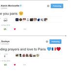 Alanis Morissette e Souleye postam mensagens em solidariedade ao atentado em Paris