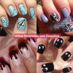 Desenhos de unhas decoradas