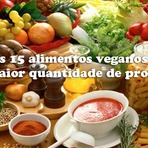 Os 15 alimentos veganos com maior quantidade de proteína