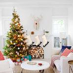 Arquitetura e decoração - Árvore de Natal decorada