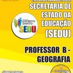 Concursos Públicos - Concurso Público para Professor B SEDU ES - Secretaria de Estado da Educação do Espírito Santo