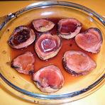 Culinária - Goaibas vermelhas c/ vinho do Porto e mel!