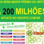 Mega sena concurso 1764 acumulada R$ 200 milhões