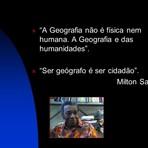Diversos - A Geografia e Milton Santos