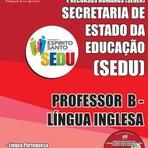 Concursos Públicos - Apostila Impressa e Digital do Concurso SEDUC / ES  PROFESSOR B - LÍNGUA INGLESA 2015