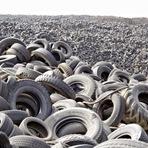 Maior aterro do mundo possui 7 milhões de pneus e pode ser visto do espaço
