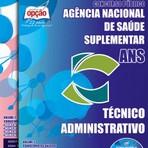 Livros - Apostila TÉCNICO ADMINISTRATIVO - Concurso Agência Nacional de Saúde Suplementar (ANS) 2015