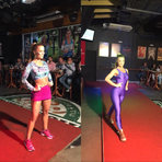Bailarina do Faustão Ju Valcézia exibe belas curvas em desfile de modas; veja fotos