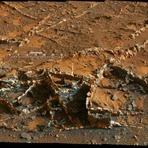 Espaço - Manchas intrigantes em veios minerais são encontrados em Marte