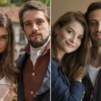 """Enquanto Alinne Moraes e Rafael Cardoso esbanjam química em """"Além do Tempo"""", Lívia e Felipe honram o título da novela"""