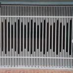 Portão de tubo trabalhado basculante galvanizado