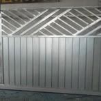 Portão de lambril e tubos trabalhados todo galvanizado