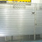 Produtos - Portão automático com tubo na Horizontal e chapa