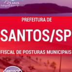Garanta já a sua apostila para concurso público da Prefeitura de Santos 2016 cargo de Fiscal de Posturas Municipais.