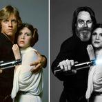 Atores de Star Wars - Antes e Depois