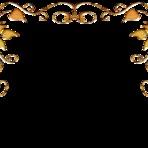 Softwares - Molduras com arabescos dourados