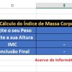 Índice de massa corpórea no Excel
