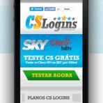 Como criar um atalho do site mobile da CS Logins em seu Smartphone