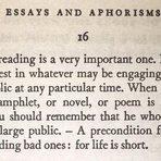 Contos e crônicas - A Arte de não ler