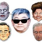 Humor - Máscaras do Japonês da PF, Dilma, Lula, Cunha e Cerveró para o Carnaval (download)
