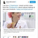 Moda & Beleza - Alanis Morissette recomenda o vídeo Natural makeup and skin care por Tata Harpe