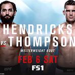 Hendricks vs. Thompson duelam esta noite em Las Vegas.