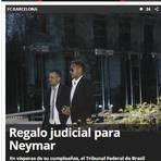 No aniversário de Neymar, jornal espanhol ironiza decisão da Justiça brasileira de rejeitar denúncia: 'Presente judicial