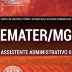 Livros - Apostila ASSISTENTE ADMINISTRATIVO II - Concurso EMATER / MG 2016