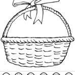 Pintura - Desenhos de cestas de pascoa para colorir