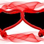 Softwares - Molduras Dia dos Namorados 2 corações entrelaçados