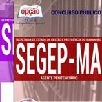 Livros - Apostila AGENTE PENITENCIÁRIO - Concurso Secretaria de Estado da Gestão e Previdência ? SEGEP/MA 2016