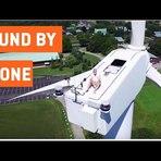 Vídeos - Um banho de sol no topo de uma turbina eólica